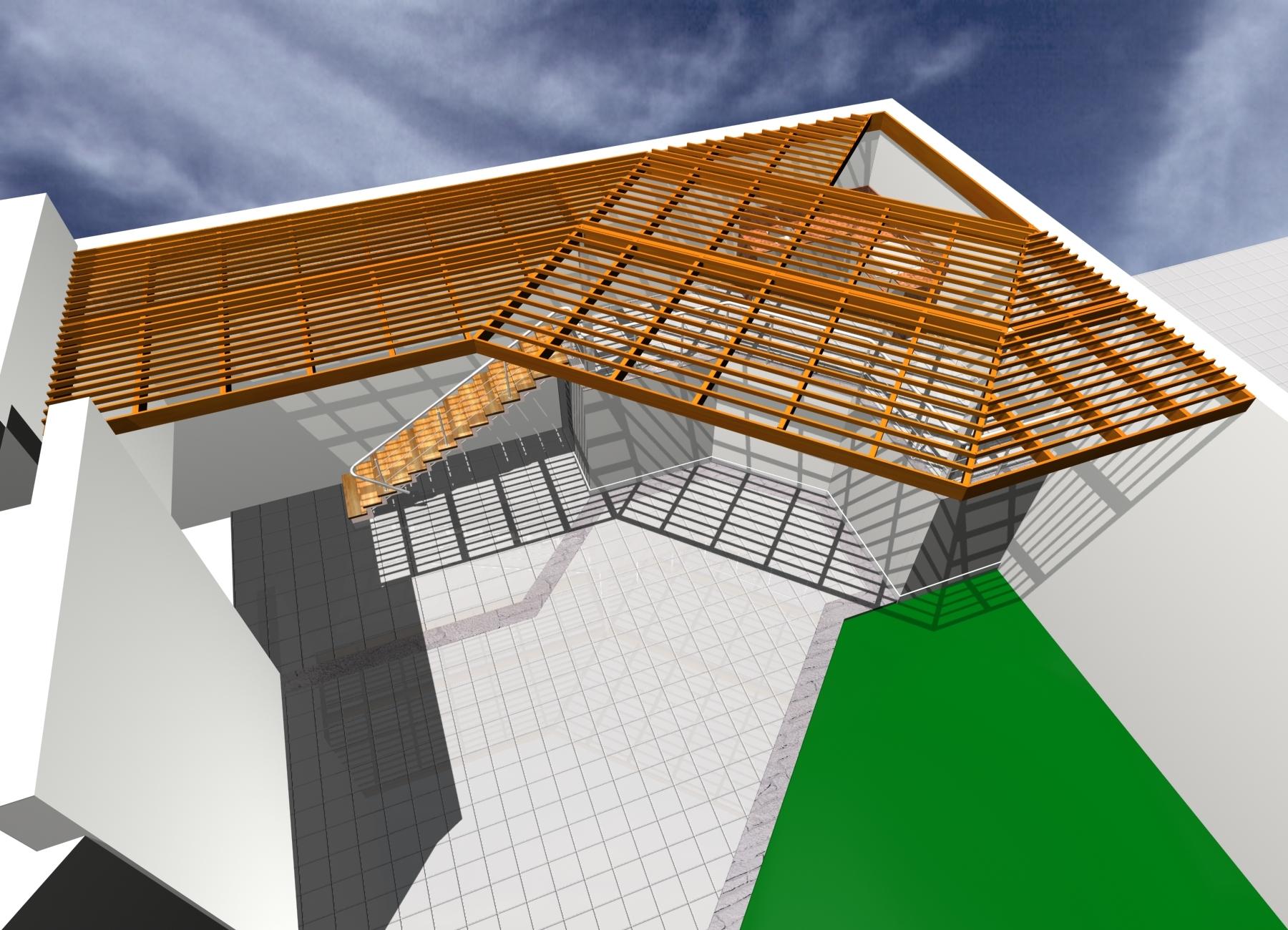 Dise o y construcci n techos de madera sol y sombra for Como encielar un techo